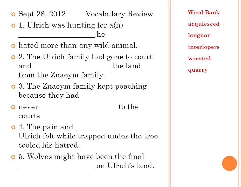 Sept 28, 2012 Vocabulary Review