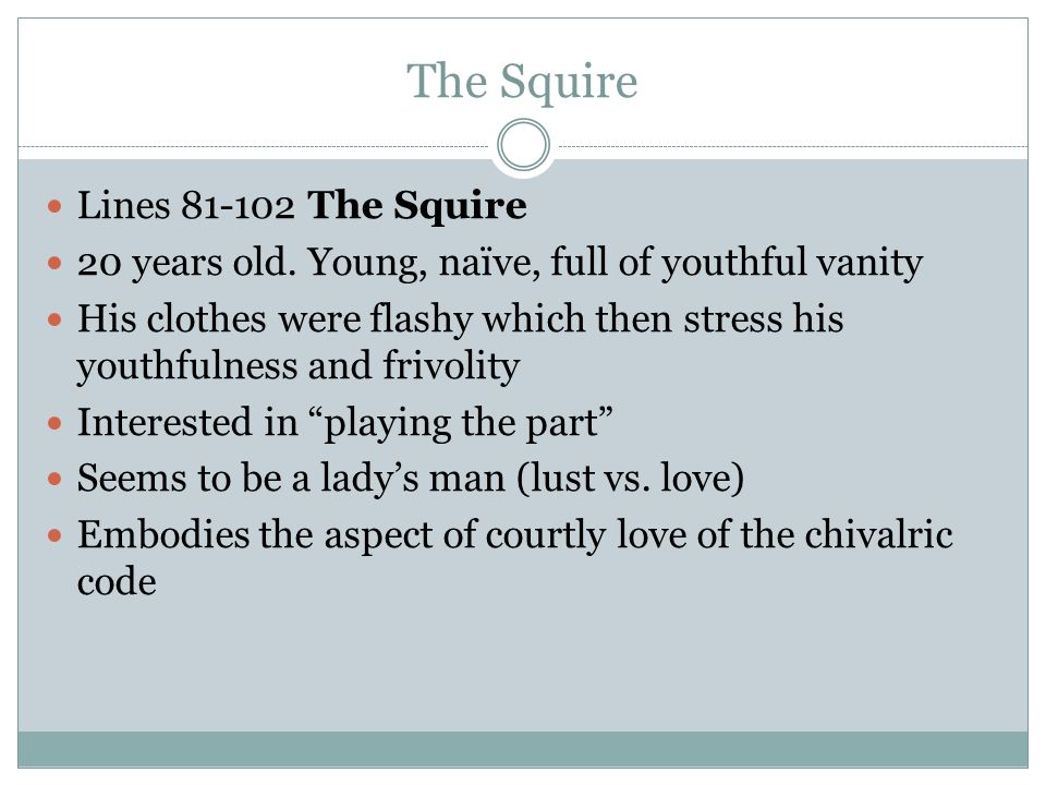 The Squire Lines 81-102 The Squire
