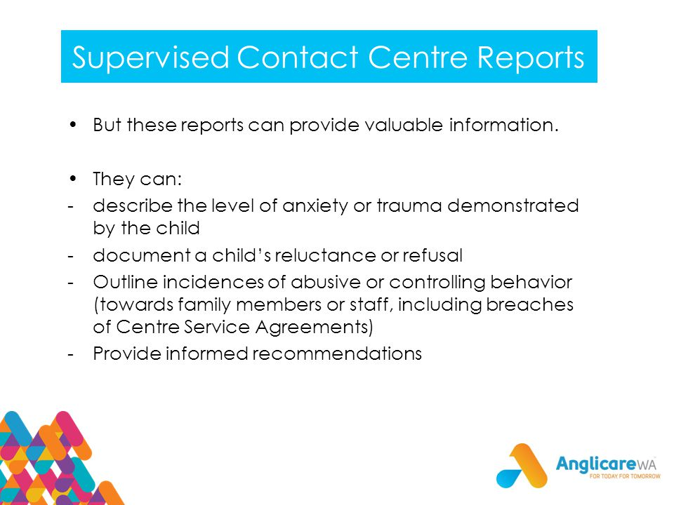 Supervised Contact Centre Reports