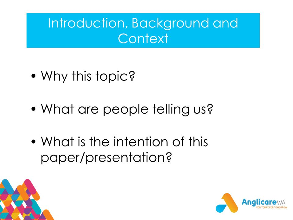 Introduction, Background and Context