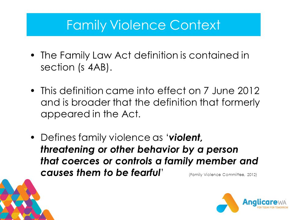 Family Violence Context