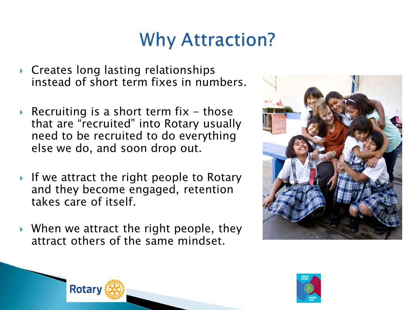 Why Attraction Creates long lasting relationships instead of short term fixes in numbers.