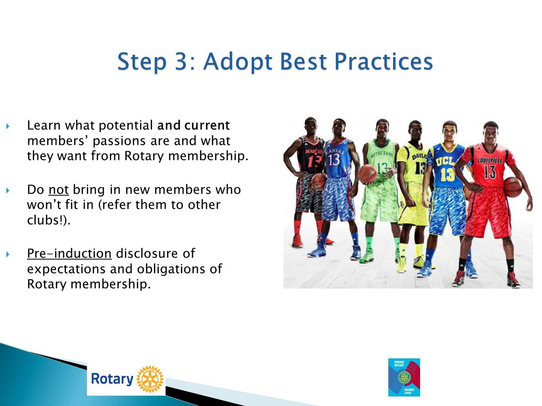 Step 3: Adopt Best Practices
