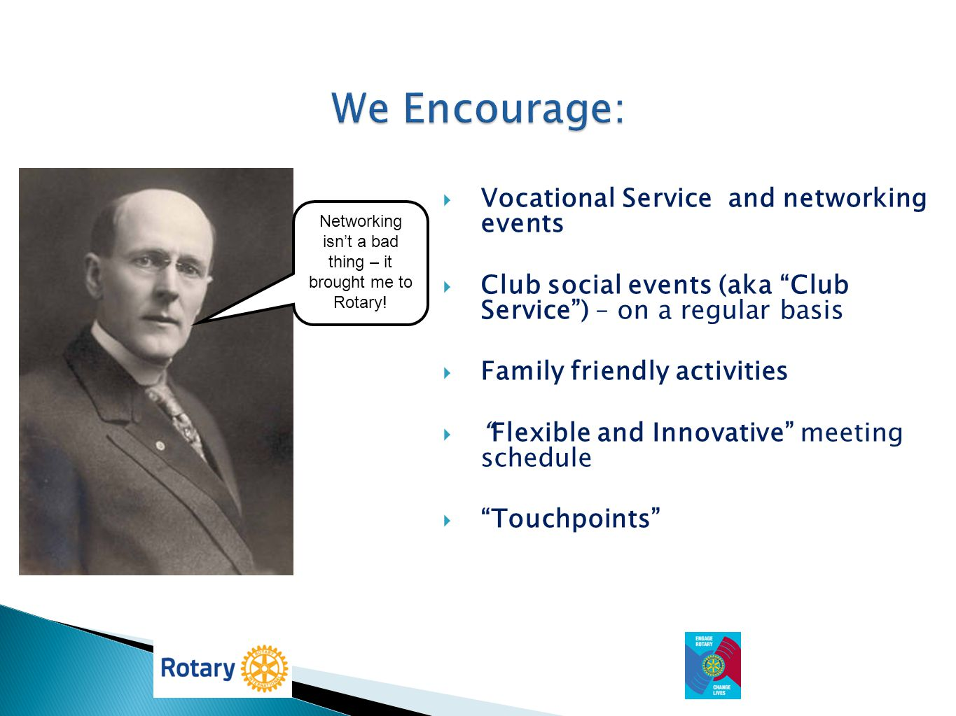Networking isn't a bad thing – it brought me to Rotary!