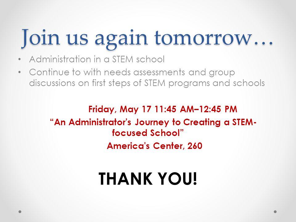 Join us again tomorrow…