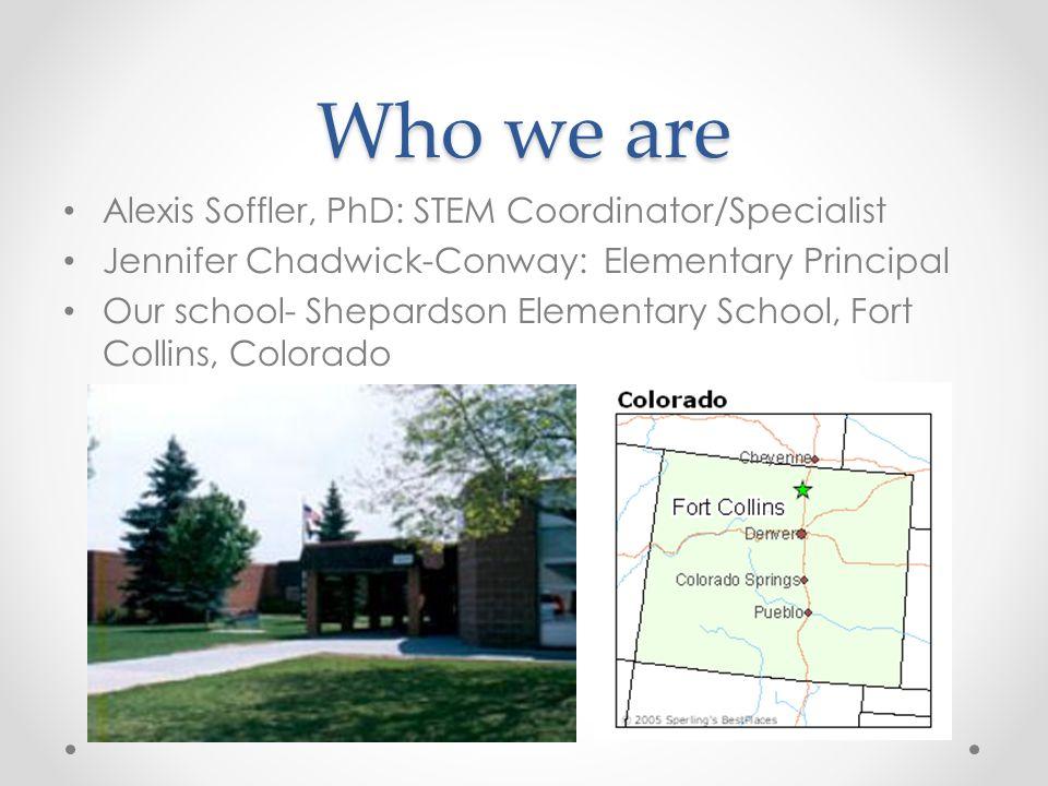 Who we are Alexis Soffler, PhD: STEM Coordinator/Specialist
