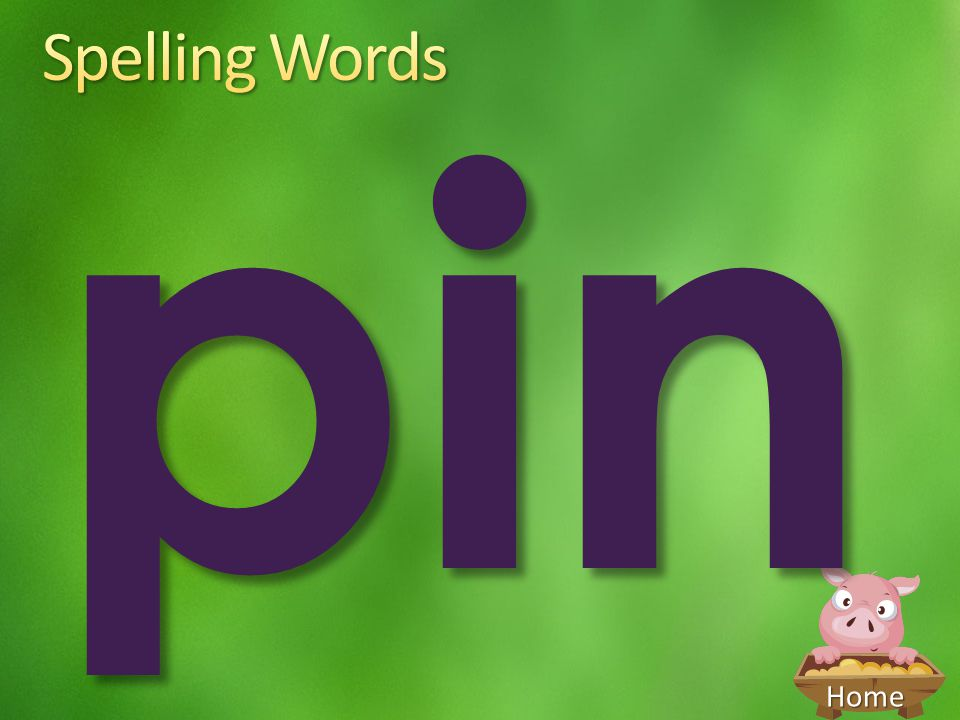 Spelling Words pin