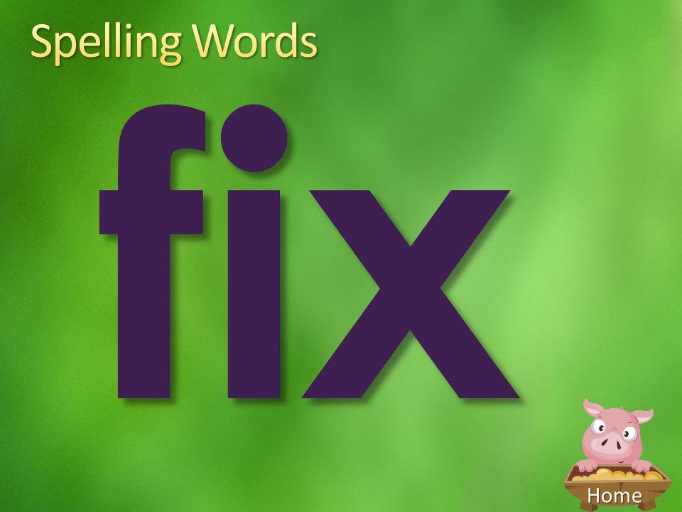 Spelling Words fix