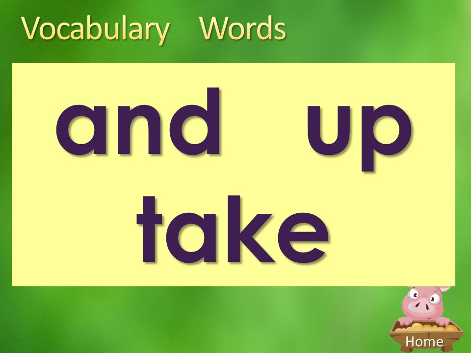 Vocabulary Words and up take