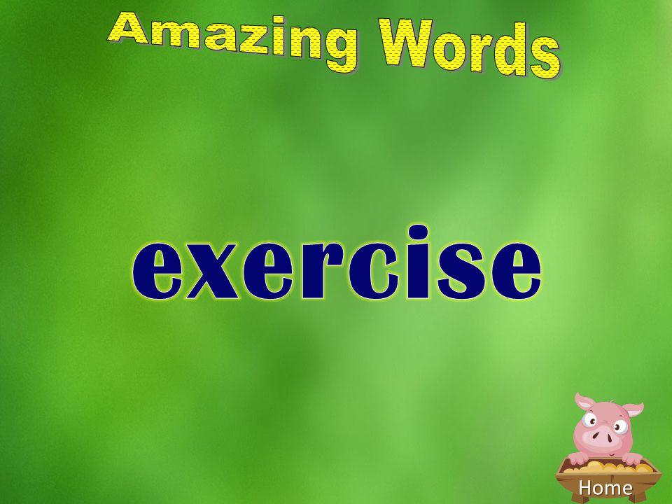 Amazing Words exercise