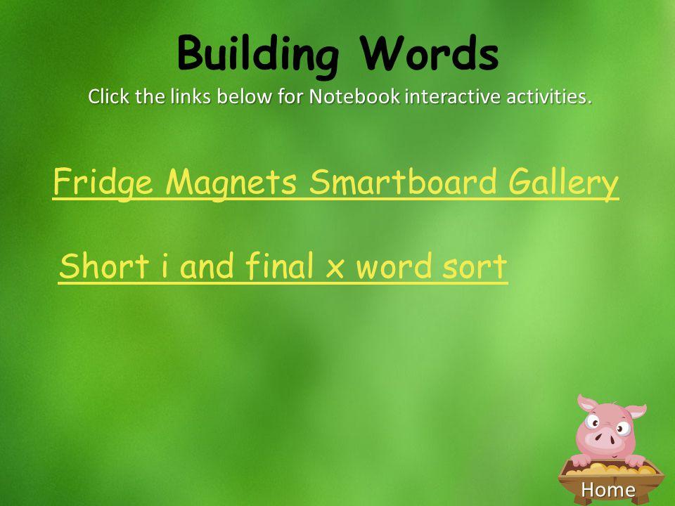 Click the links below for Notebook interactive activities.