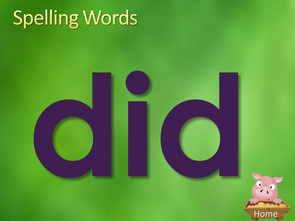 Spelling Words did