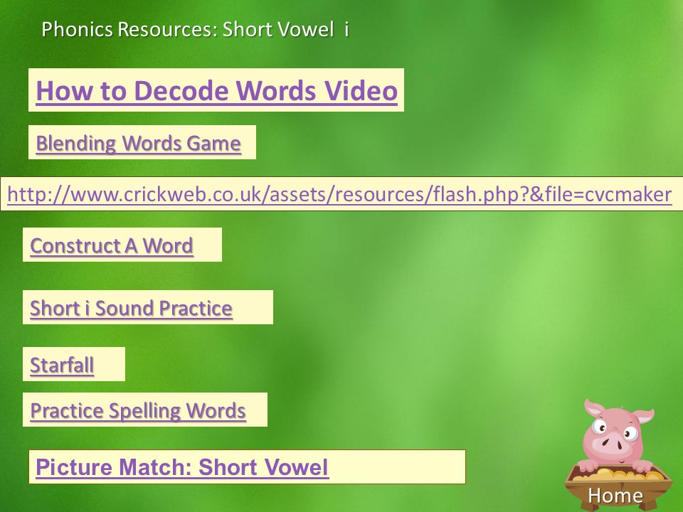 How to Decode Words Video