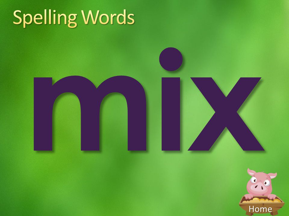 Spelling Words mix