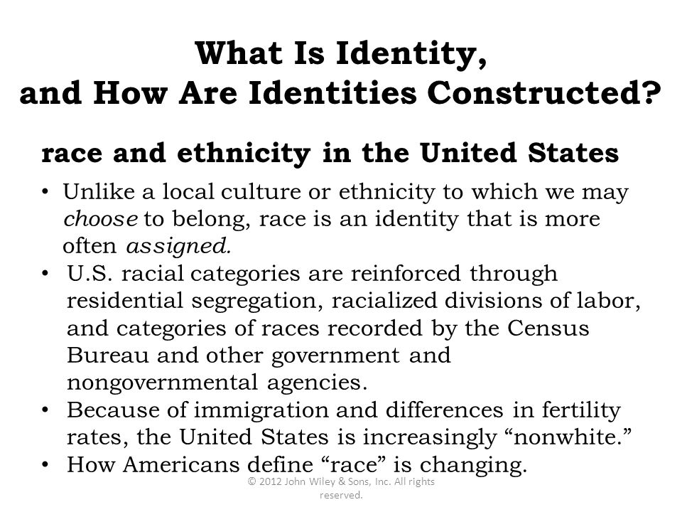 and How Are Identities Constructed