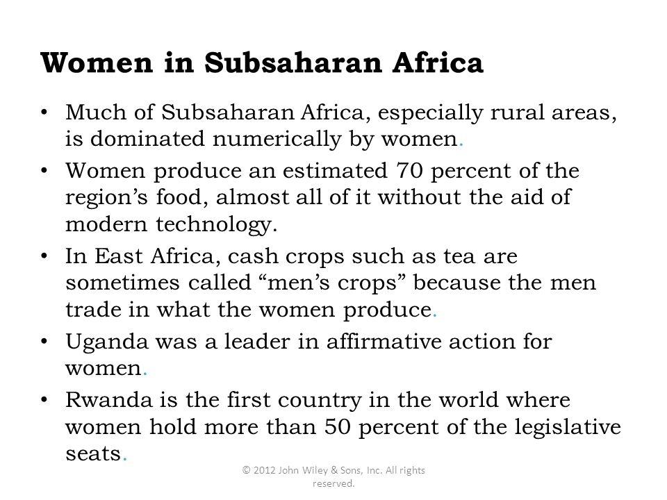Women in Subsaharan Africa