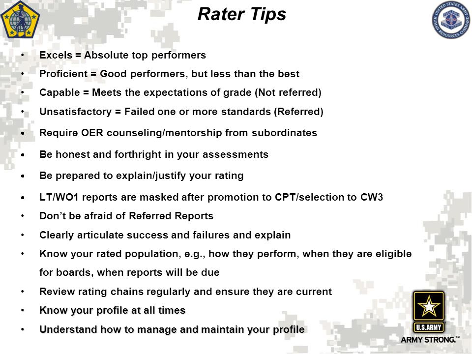 Rater Tips Excels = Absolute top performers