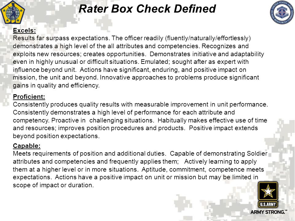Rater Box Check Defined