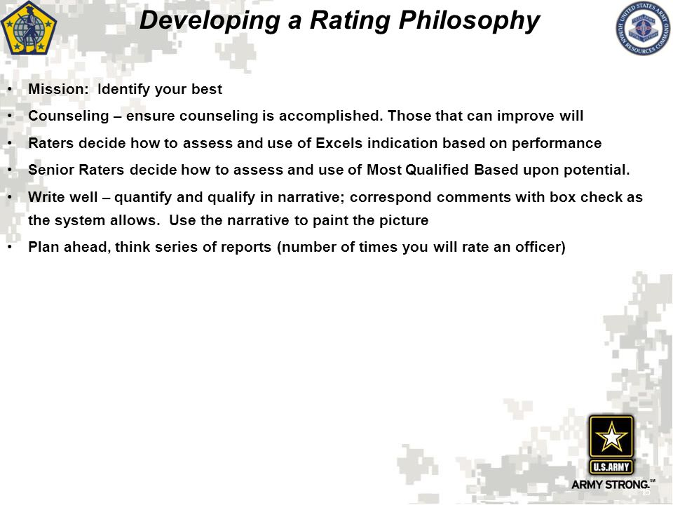 Developing a Rating Philosophy