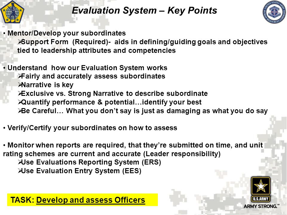 Evaluation System Rater And Senior Rater  Ppt Download