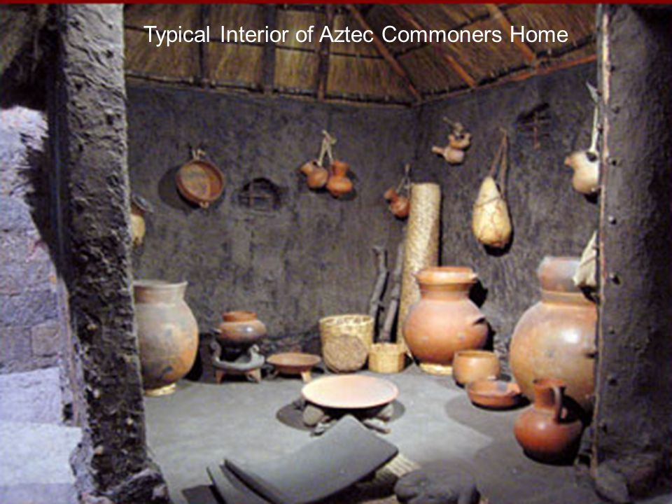 Typical Interior of Aztec Commoners Home
