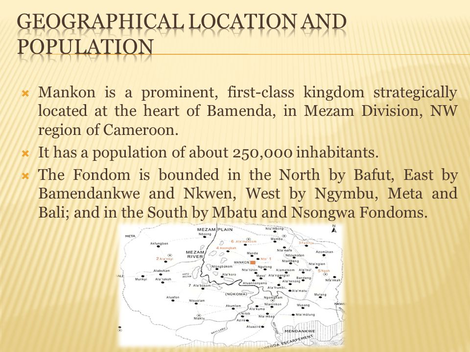 Geographical Location and Population