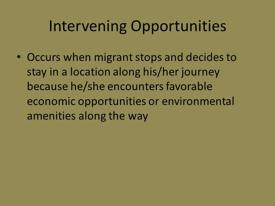 Intervening Opportunities