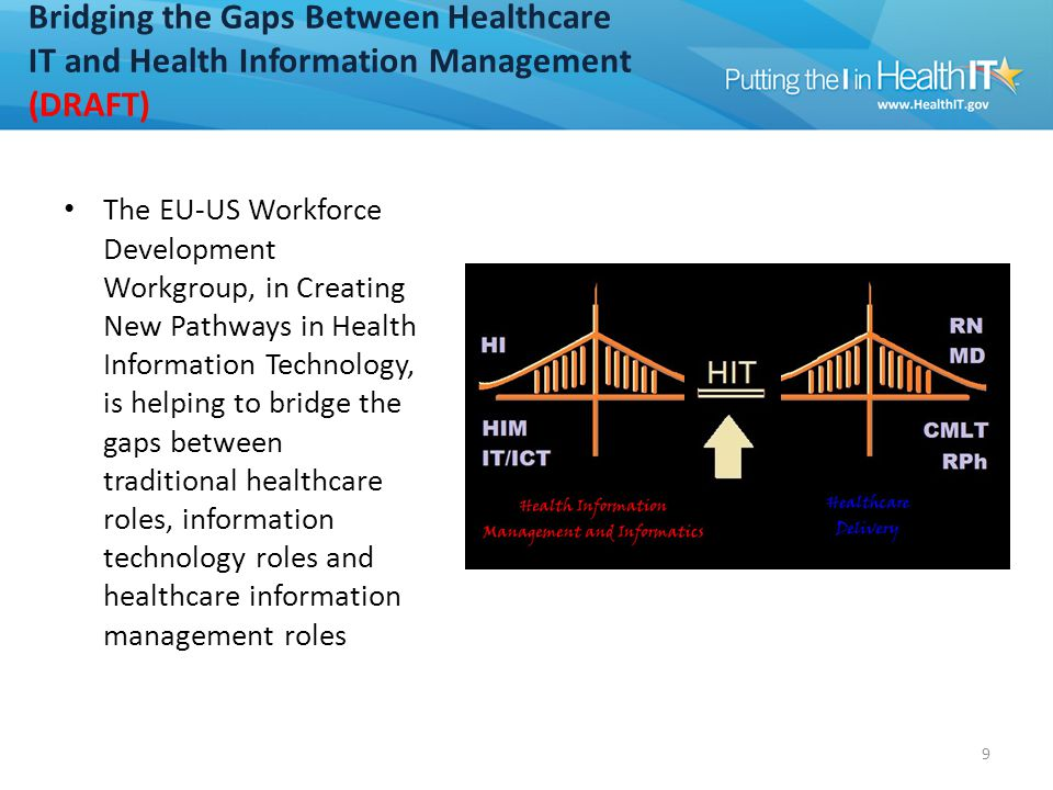 Bridging the Gaps Between Healthcare IT and Health Information Management (cont'd) (DRAFT)