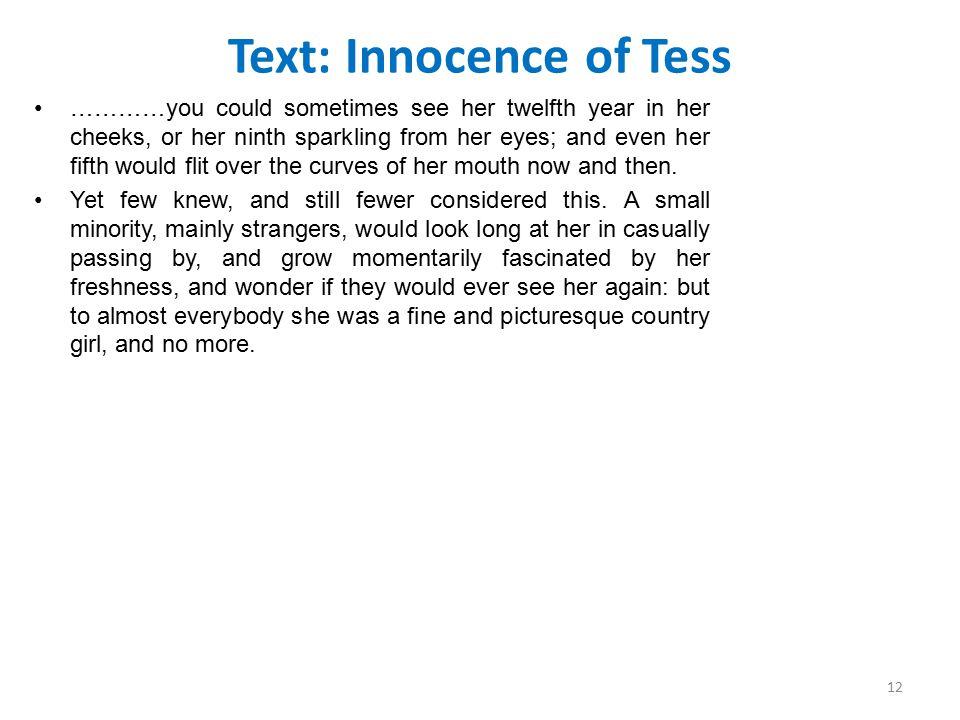 Text: Innocence of Tess