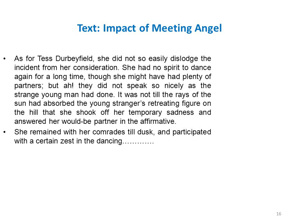 Text: Impact of Meeting Angel
