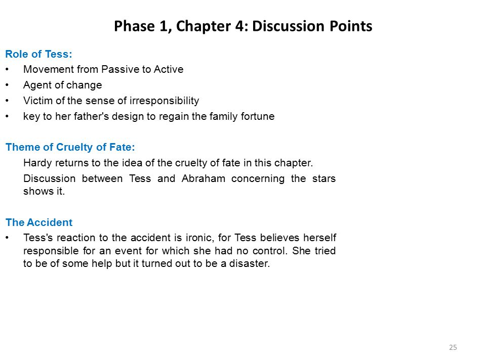 Phase 1, Chapter 4: Discussion Points