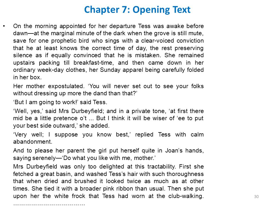 Chapter 7: Opening Text