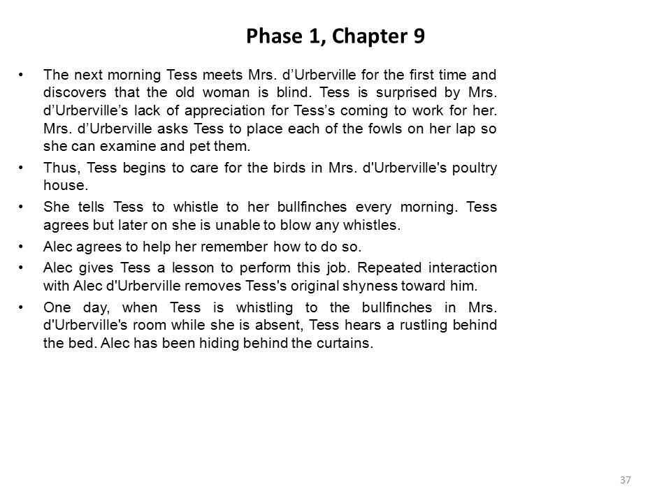Phase 1, Chapter 9