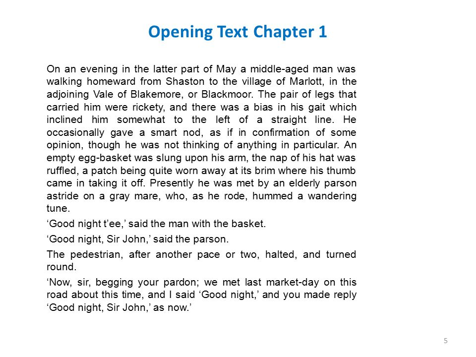 Opening Text Chapter 1