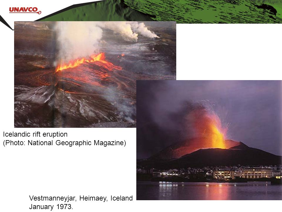 Icelandic rift eruption (Photo: National Geographic Magazine)