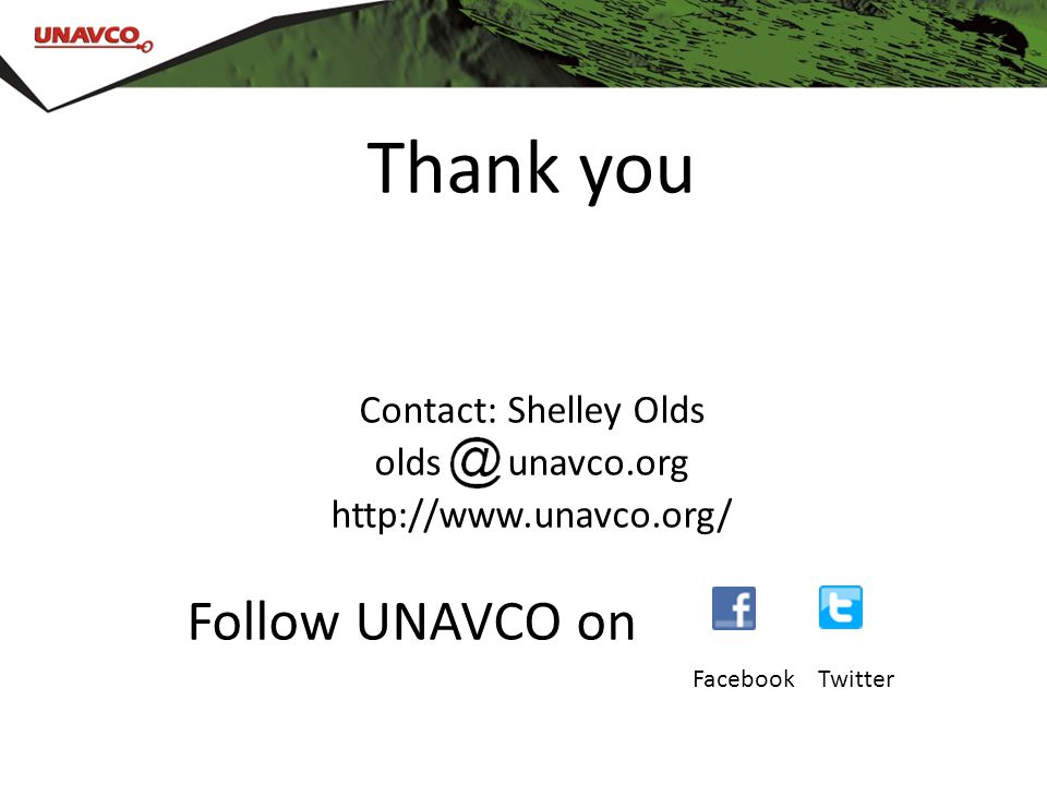 Follow UNAVCO on facebook