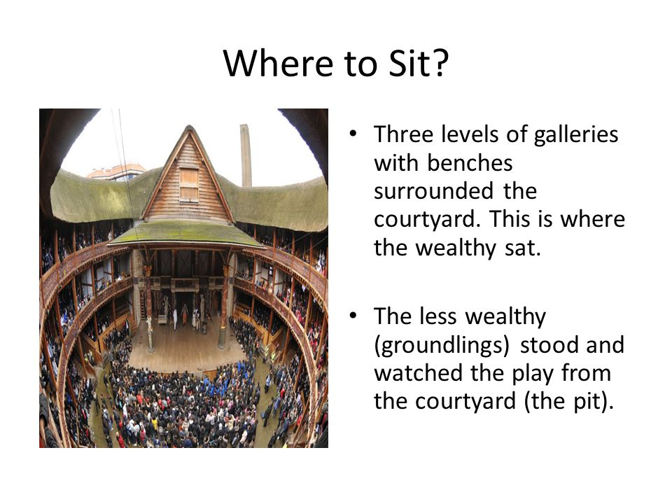 Where to Sit Three levels of galleries with benches surrounded the courtyard. This is where the wealthy sat.