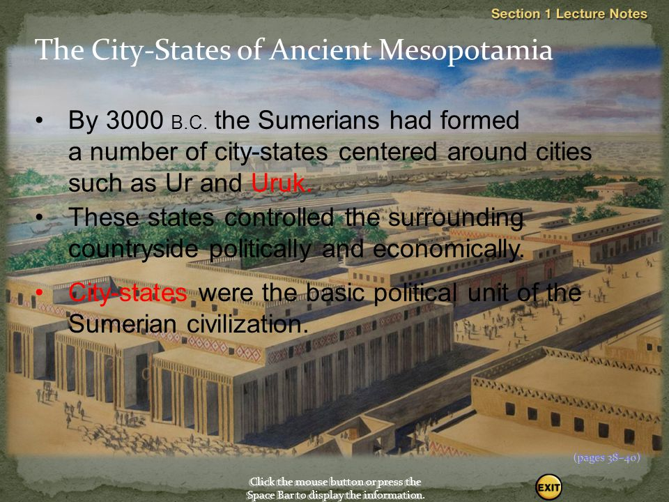 The City-States of Ancient Mesopotamia