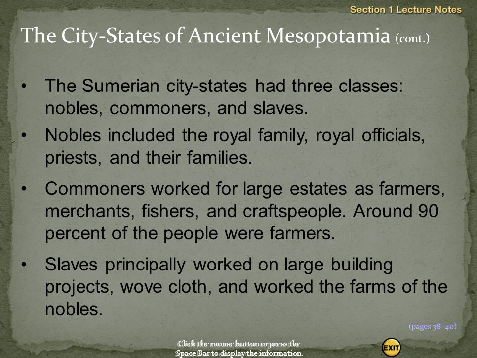 The City-States of Ancient Mesopotamia (cont.)