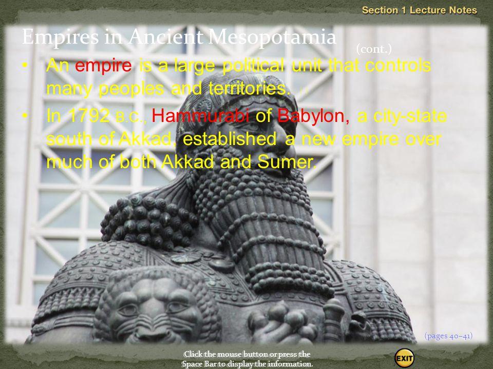 Empires in Ancient Mesopotamia