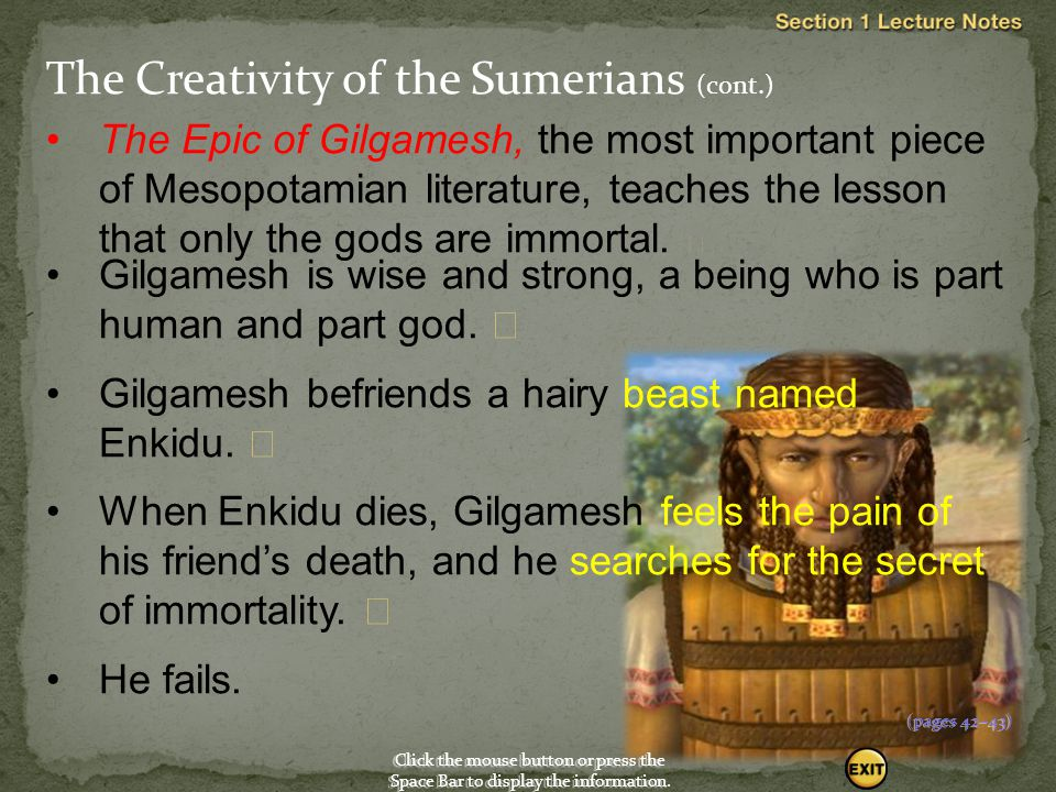 The Creativity of the Sumerians (cont.)