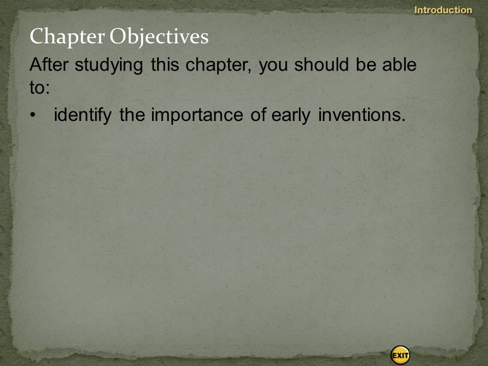 Chapter Objectives After studying this chapter, you should be able to: