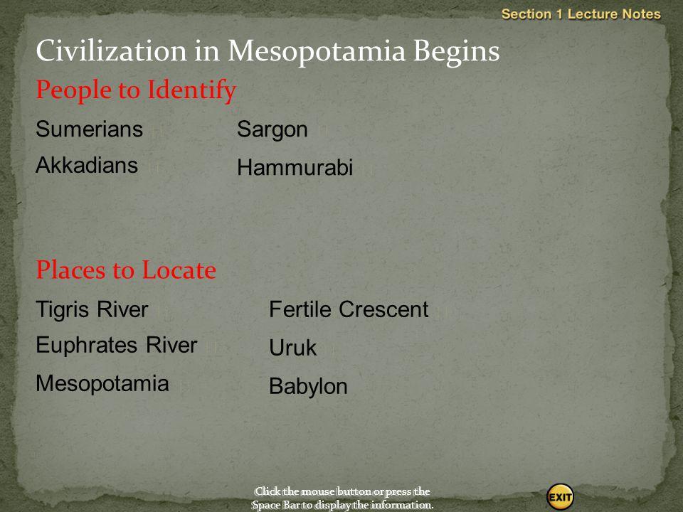 Civilization in Mesopotamia Begins