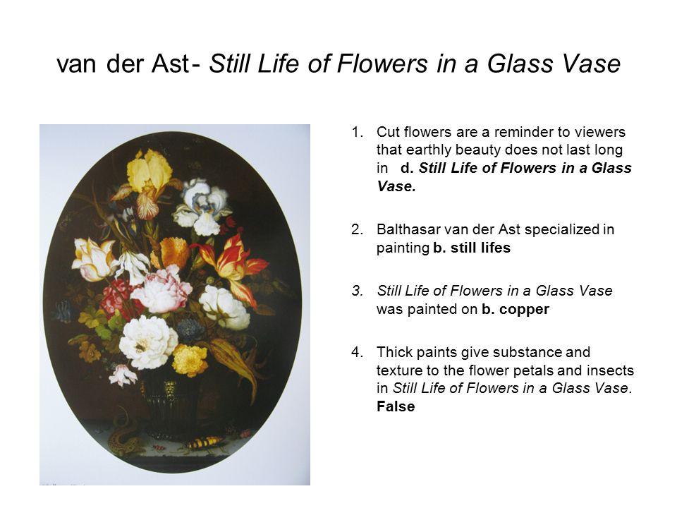 van der Ast - Still Life of Flowers in a Glass Vase