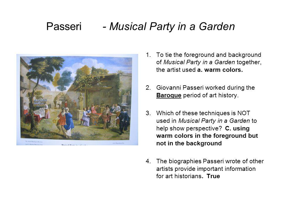 Passeri - Musical Party in a Garden
