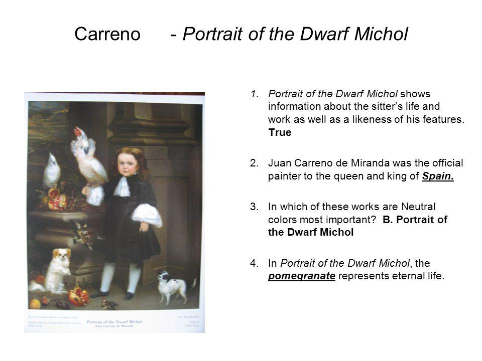 Carreno - Portrait of the Dwarf Michol