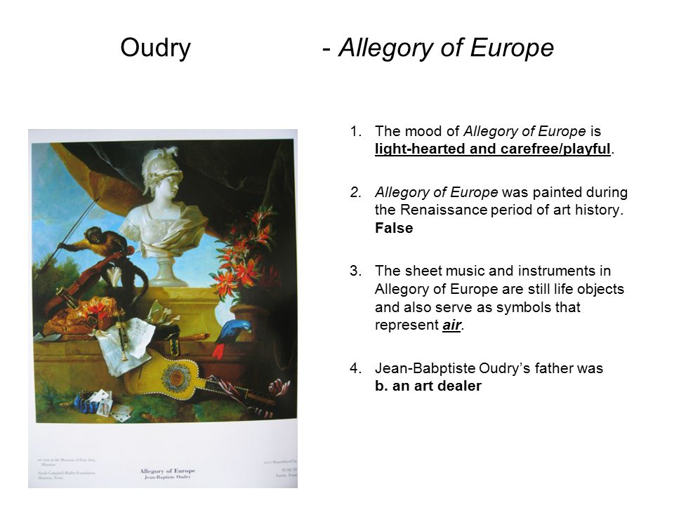 Oudry - Allegory of Europe