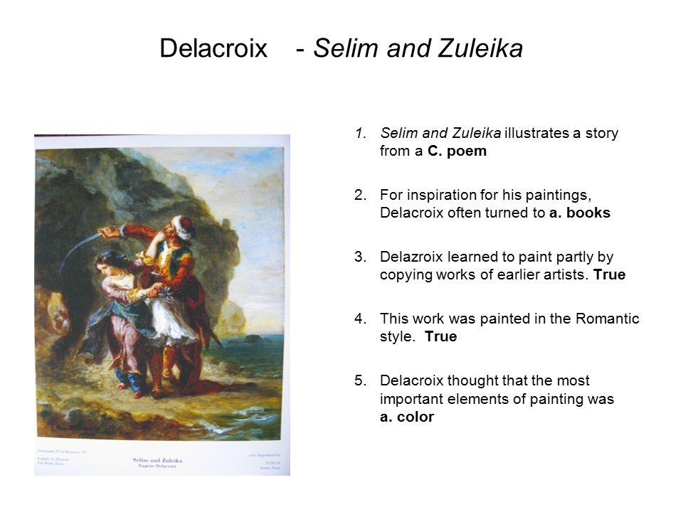 Delacroix - Selim and Zuleika
