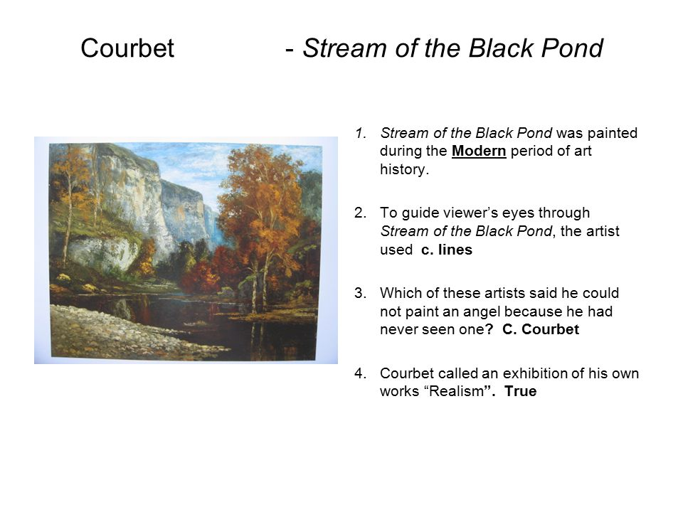 Courbet - Stream of the Black Pond