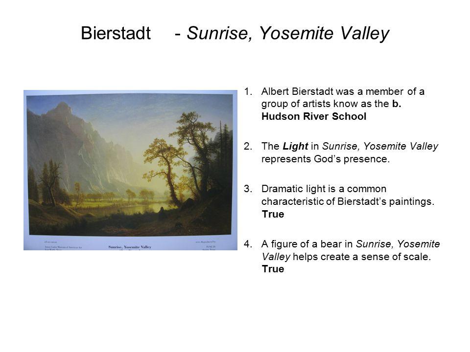 Bierstadt - Sunrise, Yosemite Valley